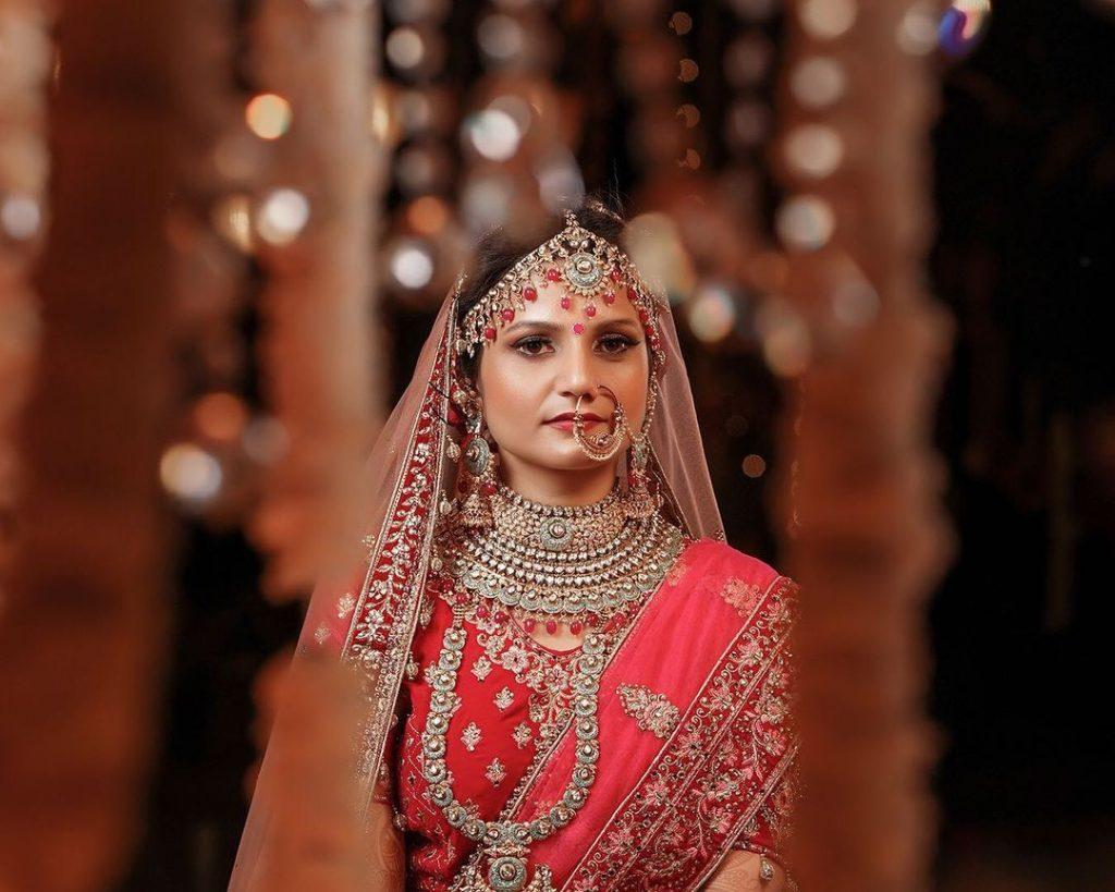 bridal portrait in bangalore